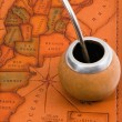 Yerba mate on map - Stock Photo