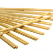 Stock Photo: Bamboo chopsticks on white