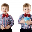 Stock Photo: Twin boys
