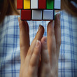 Stock Photo: Multi coloured cube puzzle