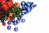 Lots of blue Christmas balls — Stock Photo