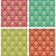 Damask floral design pattern - Stock Vector