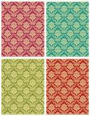 Damask floral design pattern — Stock Vector