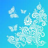 Spring floral design background — Stock Vector