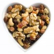 I heart fruits and nuts — Stock Photo