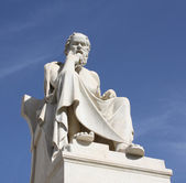 Statue of Socrates in Athens, Greece — Stock Photo