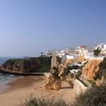 Beach in Albufeira, Portugal — Stock Photo