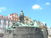 Jan Hus Monument in Prague — Stock Photo