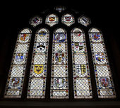 Stained Glass Window, Bath Abbey, UK — Stock Photo
