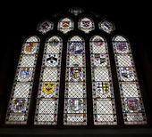 Stained Glass Window, Bath Abbey, UK — Stock Photo