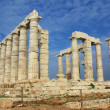 Ruins of Temple of Poseidon in Greece - Stock Photo