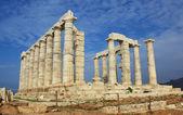 Ruins of Temple of Poseidon in Greece — Stock Photo