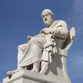 Statue of Plato in Athens, Greece — Stok fotoğraf