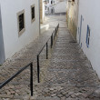 Cobblestoned street - Stock Photo