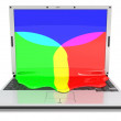 Laptop RGB (front) — Stock Photo