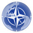 NATO and earth — Stock Photo