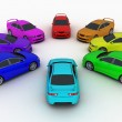 Cars palette — Stock Photo