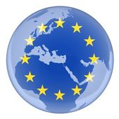 EU and earth — Stock Photo