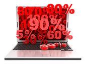 Laptop markdown — Stock Photo