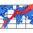 Diagram and world up — Stock Photo