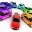 Car colour - Stock Photo