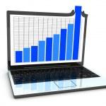 Laptop statistic — Stock Photo #2480898