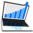 Laptop and good statistic — Stock Photo #2481022
