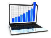 Laptop statistic — Stock Photo