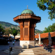 Historical fount in Sarajevo - Stock Photo