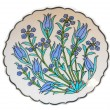 Turkish tile plate - Tulip - Stock Photo