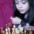 Little girl play chess game — Stock Photo #2185194