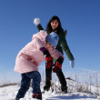 Play snowball — Stock Photo