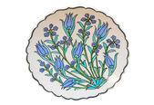 Placa turca azulejo - tulipán — Foto de Stock