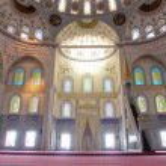 Ankara Turkey -Inside of Kocatepe Mosque — Stock Photo