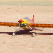 Radio controlled model airplane - Stock Photo