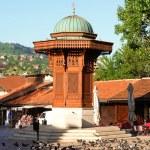 Historical fount in Sarajevo — Stock Photo