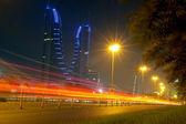 Bahrain Financial Harbour - night scene — Stock Photo