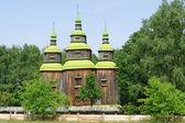 Old wooden Church in Ukraine — Stock Photo