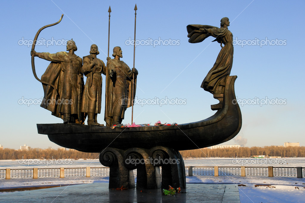 Kiev - Ukraine - Founders of City Monument  Stock Photo #2206539