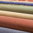 Rolled up carpets - Stock Photo