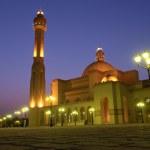 Постер, плакат: Al Fateh Grand Mosque in Bahrain night