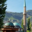 Stock Photo: Historical fount and Mosque in Sarajevo