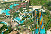 Giant aqua park - top view — Stock Photo