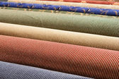 Rolled up carpets — Stock Photo