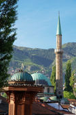 Historical fount and Mosque in Sarajevo — Stock Photo