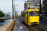 Old tramway in Sarajevo - Bosnia — Stock Photo