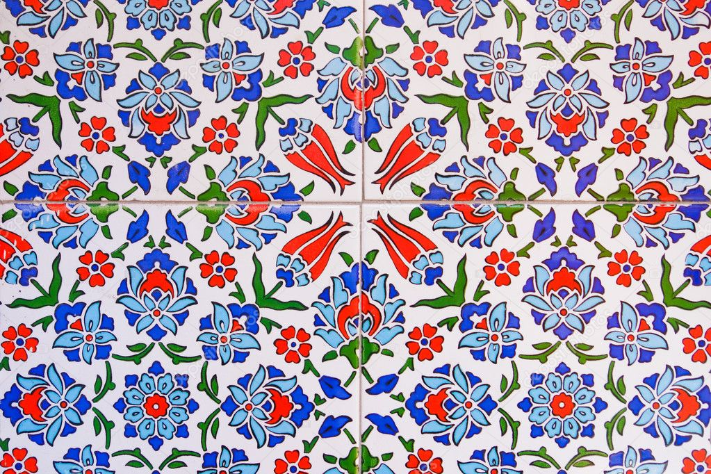 Turkish Design Wallpaper : Turkish tile background stock photo ? orhancam