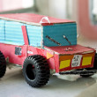 Handmade cartoon car toy — Stockfoto