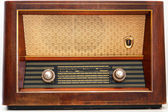 Vintage radio - isolated — Stock Photo