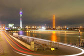 Dusseldorf - Germany night scene — Stock fotografie